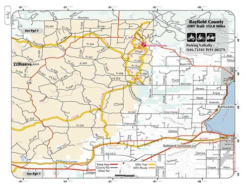 Bayfield County ORV Trail Information  VVMapping