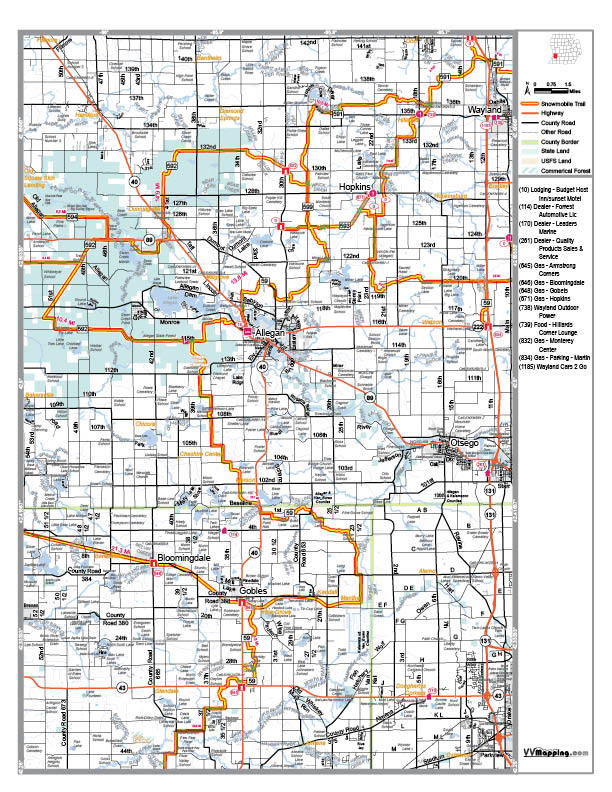 Allegan couty snowmobile club view map as pdf publicscrutiny Image collections