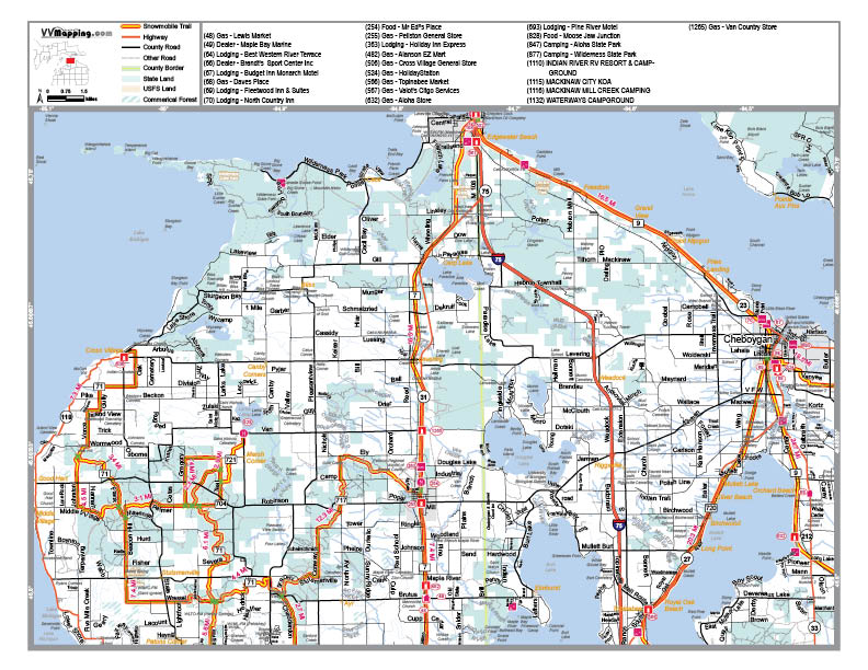Moosejaw trails harbor springs snowmobile club view map as pdf gumiabroncs Choice Image