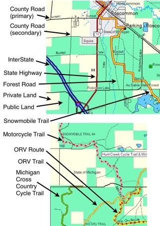 Michigan ORV GPS Map - VVMapping.com