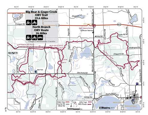 Big Bear Trail Information - VVMapping com