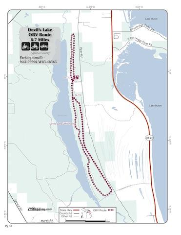 Devils Lake Trail Information Vvmapping Com