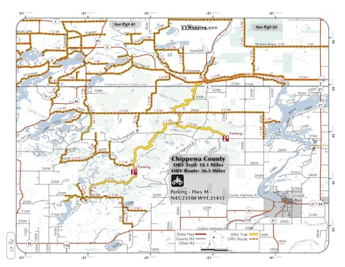 Chippewa County ORV Trail Information - VVMapping.com on